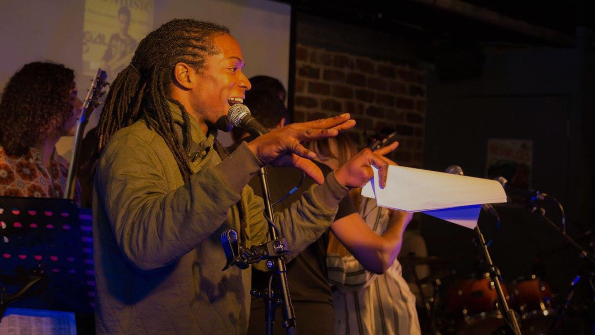 Nigel Clarke hosting the Al Pascal Spring Charity Concert