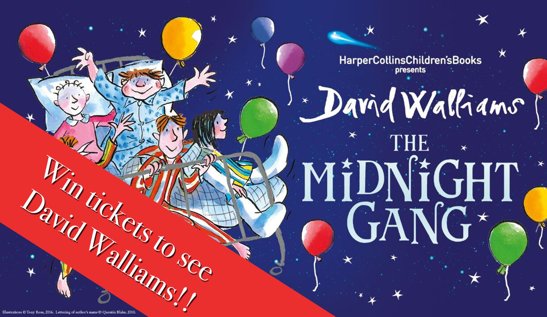 Win Tickest to David Walliams The Midnight Gang Event