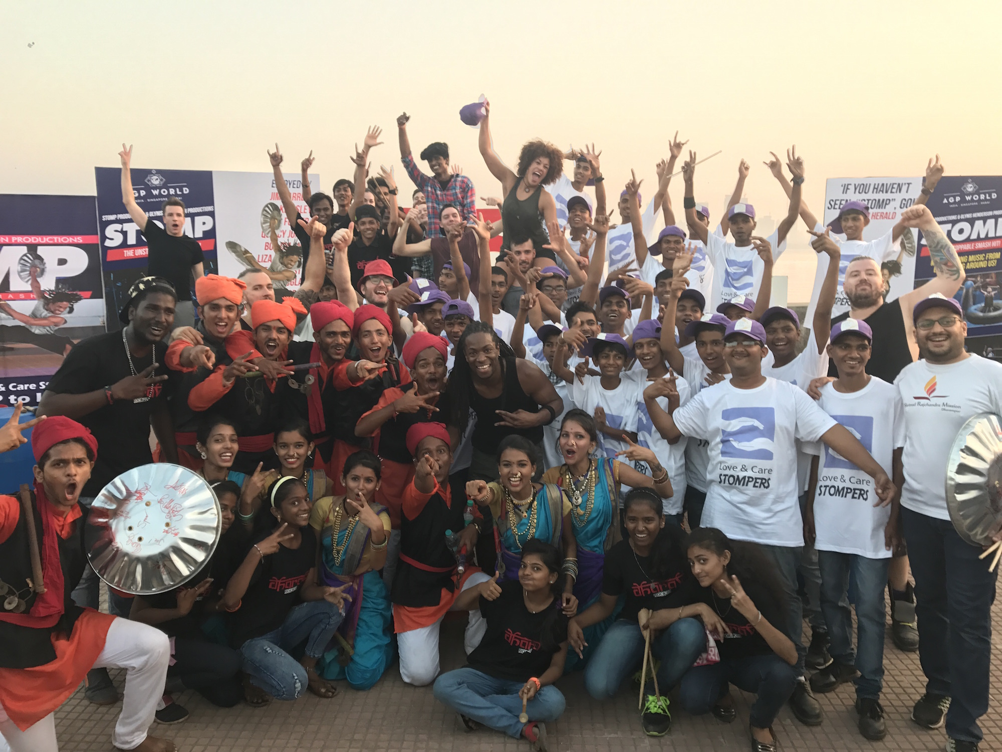 STOMP in Mumbai with The Love and Care Stompers, Lezim and Dharavi Rocks