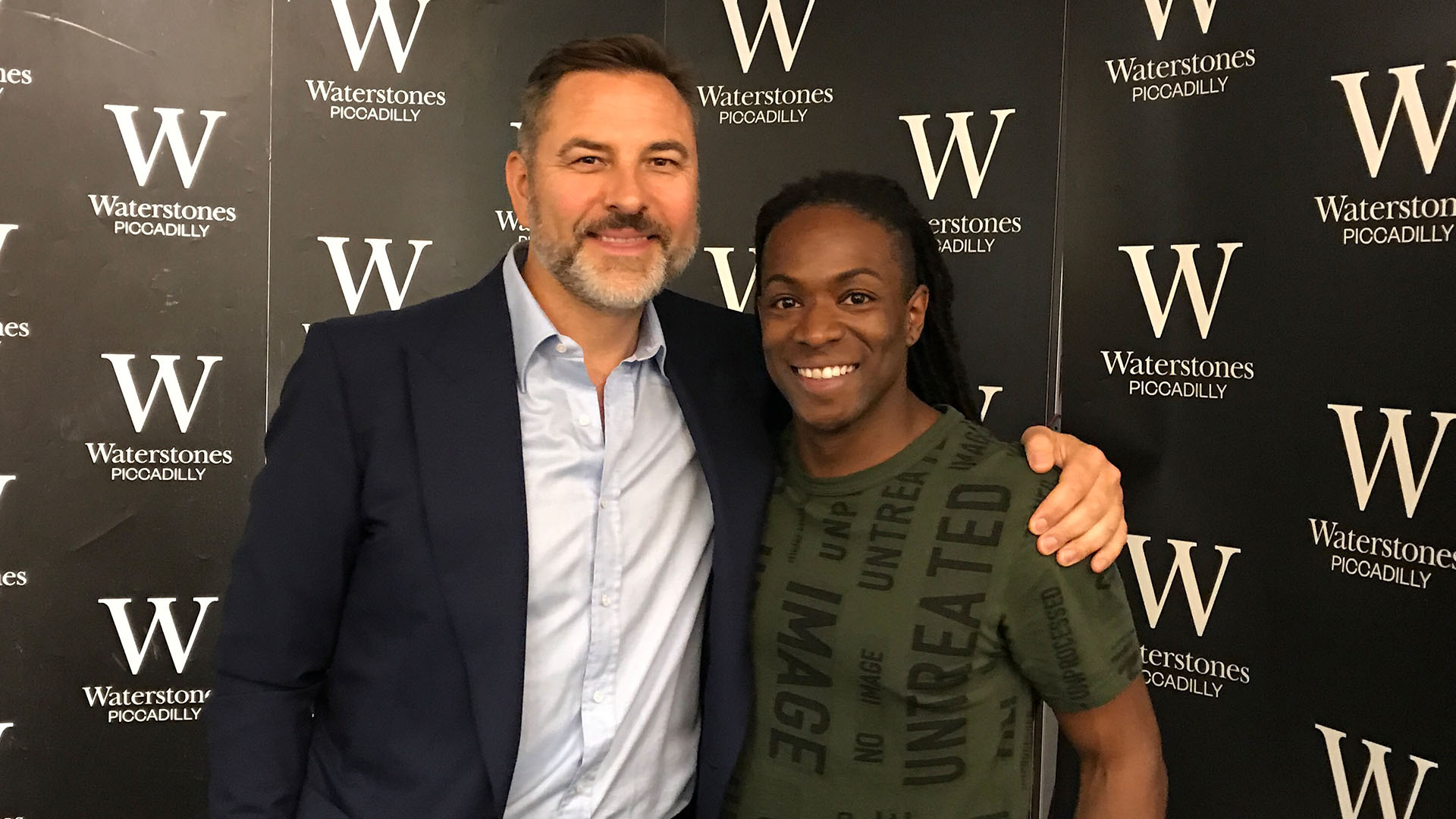 David Walliams and British TV Presenter Nigel Clarke at The World's Worst Children Book Signing in London on May 31st 2017