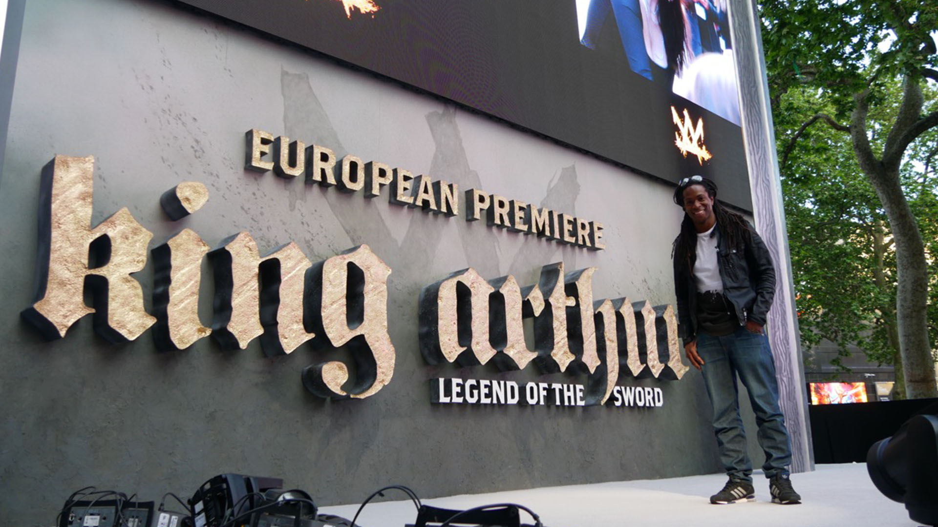 British TV Presenter Nigel Clarke at the King Arthur European Premiere