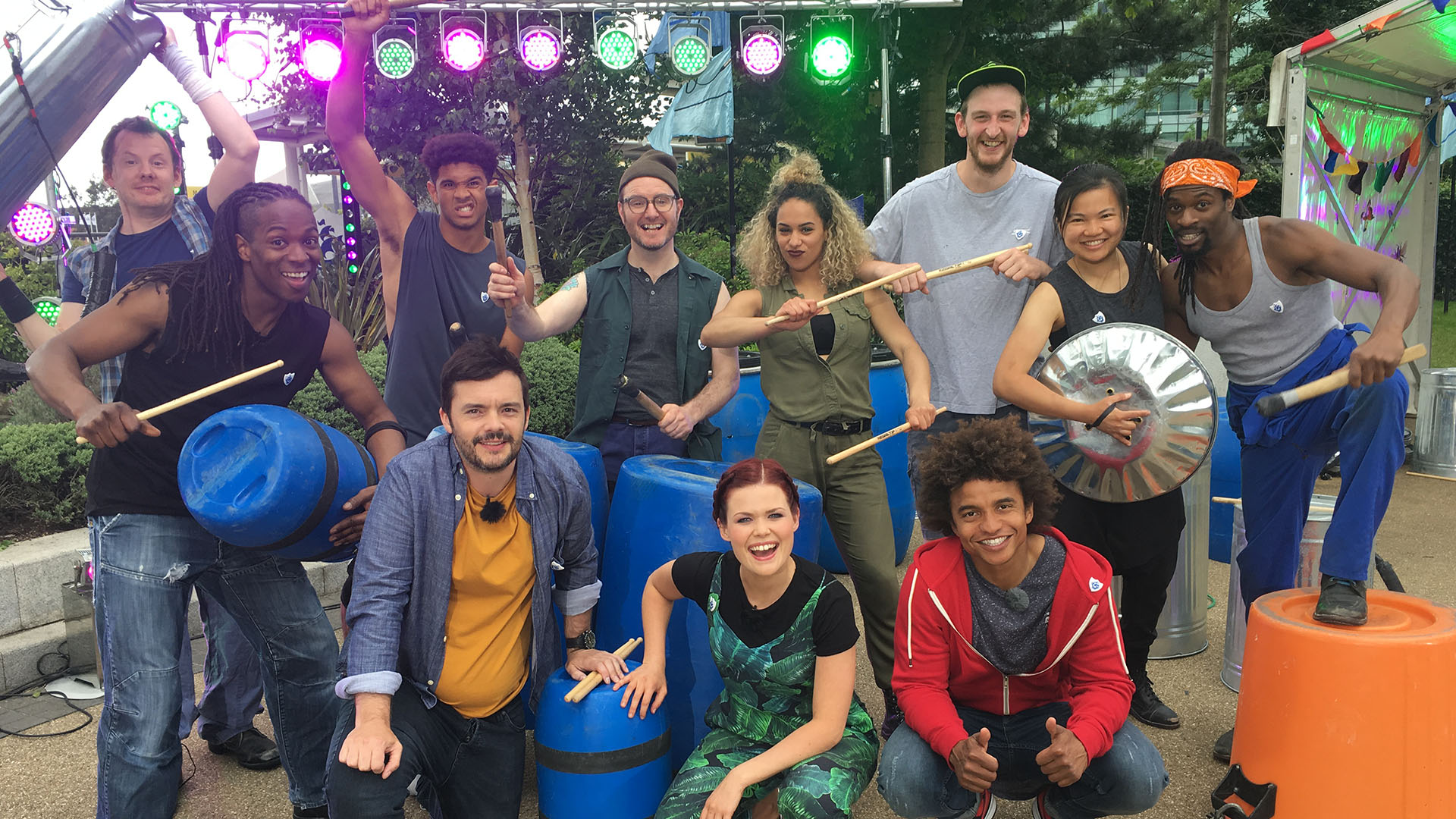 Stomp on Blue Peter 2017, James Lane, Nigel Clarke, Christian Sharrier, Barney Harwood, Billy Hickling, Lindsey Russell, Daniella May, Radzi Chinyanganya, Fred Nye, Nicola Chang, Omari Carter