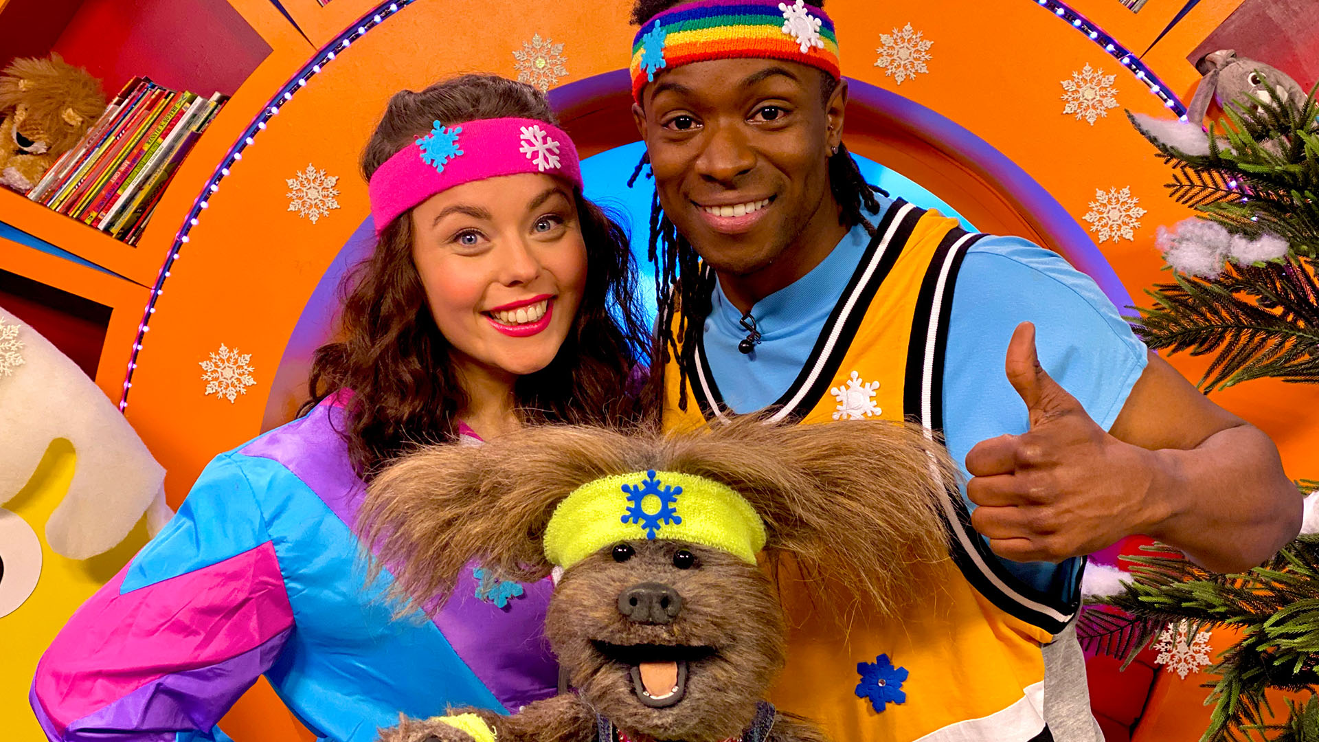 Nigel Clarke Blog - CBeebies Presenter Nigel's favourite moments - Photo with Evie Pickerill, Dodge, Nigel Clarke