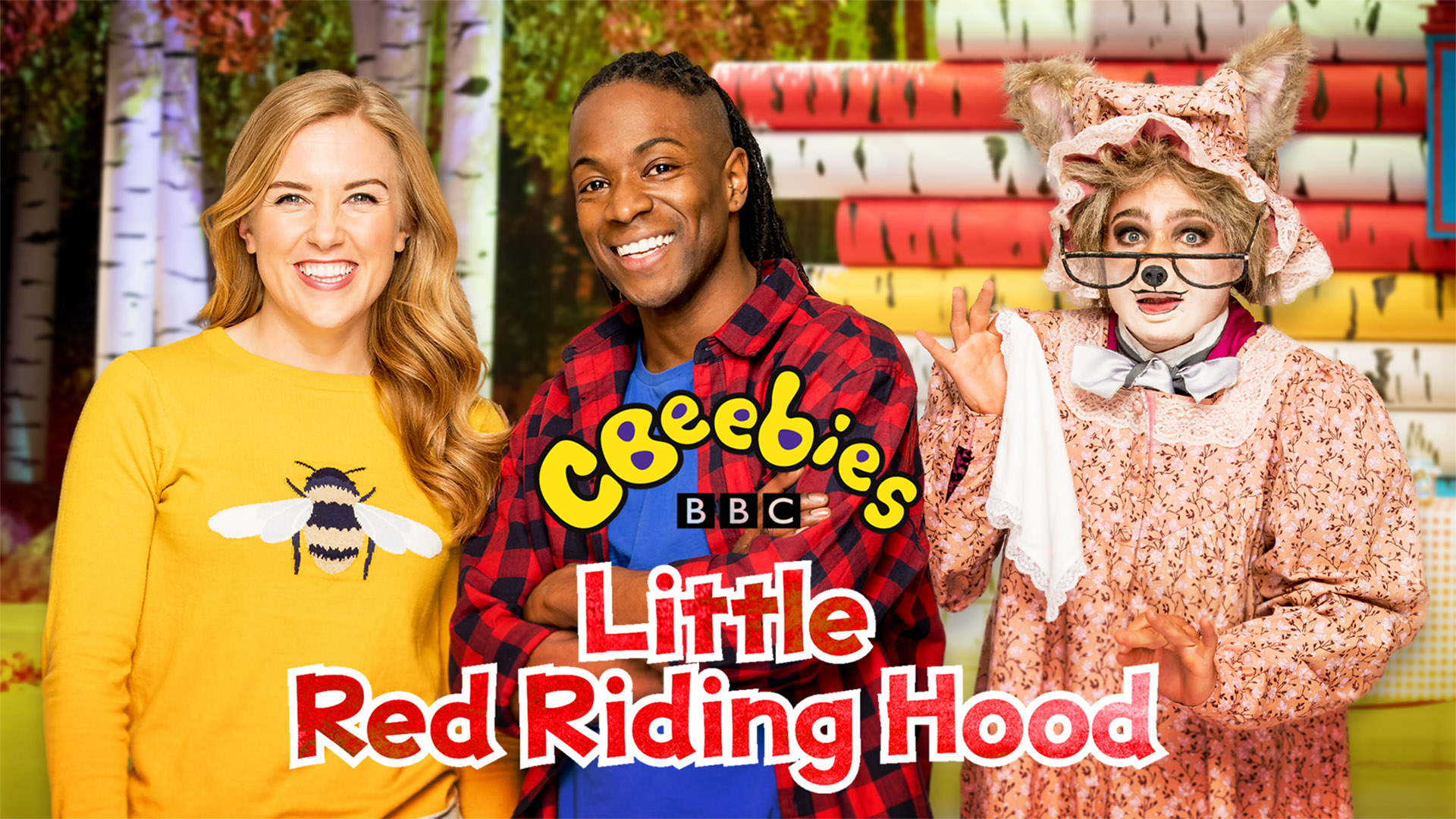 Nigel Clarke Blog - CBeebies Ballet - Little Red Riding Hood - Maddie Moate, Nigel Clarke, and The Wolf